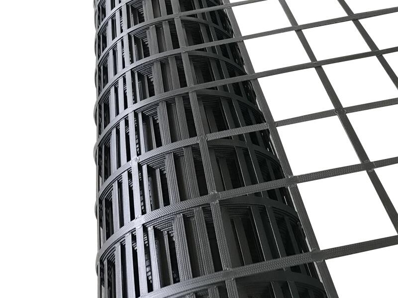 High tensile strength steel and plastic geogrid